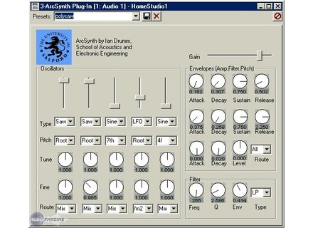 Salford Acoustics Audio & Video ArcSynth [Freeware]