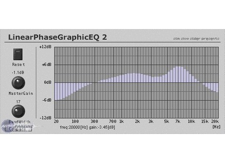 Slim Slow Slider LinearPhaseGraphicEQ 2 [Freeware]