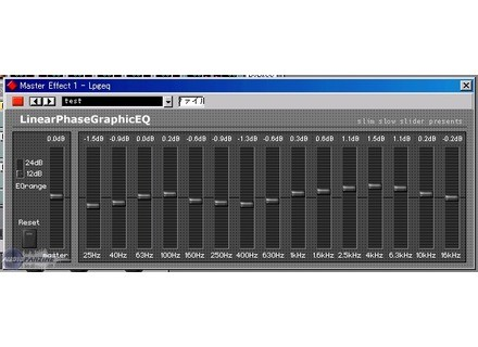 Slim Slow Slider LinearPhaseGraphicEQ [Freeware]