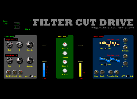 SonicXTC Filter Cut Drive