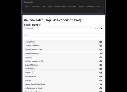 Soundwoofer Impulse response library