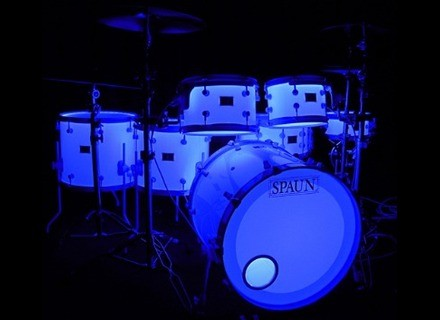 Spaun Drums LED Lighted Acrylic Drum Kit