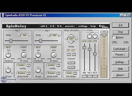 Spin Audio Asio FX Processor LE [Freeware]