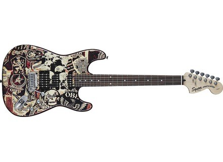 Squier Obey Graphic Stratocaster Collage