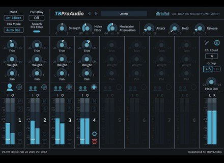 TBProAudio AMM Automatic Microphone Mixer