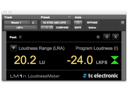 TC Electronic LM1n Loudness Meter