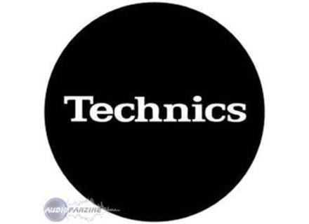 Technics feutrines standard. Logo Technics blanc sur fond noir.
