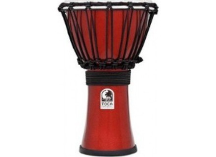 Toca Percussion Freestyle Colorsound 7'' Djembe - Metallic Red