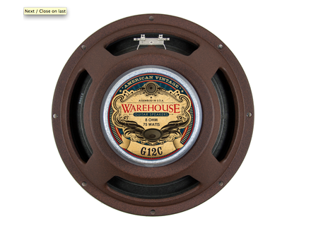 Warehouse Guitar Speakers G12C