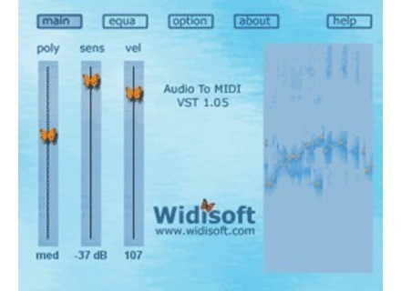 Widi Audio To MIDI VST