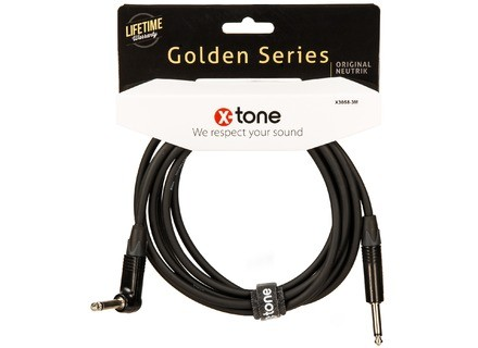 X-Tone Golden Instrument Cable Right Angle X3058