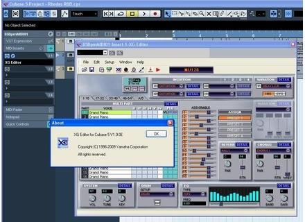 Yamaha XG Editor for Cubase 5