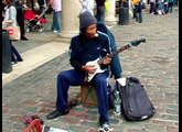 RICHARD BLUES GOOD  GUITARIST IN COVENT GARDEN LONDON BUSKING