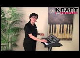 Kraft Music -  Moog Sub Phatty Analog Synthesizer Demo with Linda Lafferty