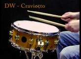 DW Craviotto Solid shell Maple snare 14x5.5""