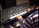 Me checking my E-mu EMAX (DM keyboard)