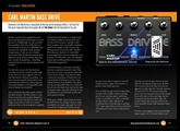Carl Martin Bass Drive Pedal Review - WIN this Pedal in Guitar Interactive Magazine Issue 15
