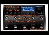 Voicelive 2 - Tuto démo - Peut-on harmoniser une FLûte avec le Voicelive ? Play Flute with Voicelive