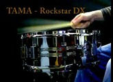 Tama Rockstar DX  steel snare audio test