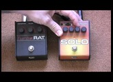 Proco Solo Rat Vs Turbo Rat - Distorion Pedal Shootout - Yamaha AES 720