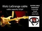 GUITAR CABLE SHOOTOUT part 2/4 -- 4.5m/15ft. -- on DRIVE channel