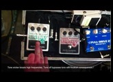 Electroharmomix little big muff vs. tone wicker using a pickup booster and Fulldrive 2