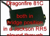 EMG 81 vs Dragonfire 81C Pickup with a Jackson RR5