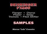 Behringer FX600 - samples