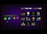 Cameo Multi PAR COB 1 - Compact 4 x 30 W RGB COB LED lighting system incl. transport case
