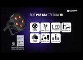Cameo FLAT PAR CAN TRI 5x3W IR - 5 x 3 W High Power TRI colour FLAT LED RGB PAR