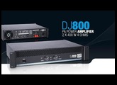 LD Systems DJ800 - PA Power Amplifier 2 x 400 W 4 Ohms