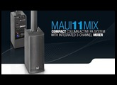 LD Systems MAUI 11 MIX - Compact Column PA System active with integrated 3-channel Mixer