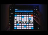 "Ableton Push 2: Live Performance: ""Fireworks"", as Neon Type"