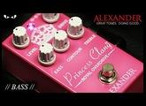Alexander Pedals - Princess Clang Royal Overdrive - BASS Demo