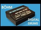 BÖHM DIGITAL DRUMS Vintage Drum Machine/Analog Accompaniment 1983 | HD DEMO | SAMPLE PACK