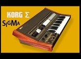 KORG SIGMA Analog Synthesizer 1979 | HD DEMO