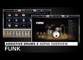 Addictive Drums 2 ADpak Overview: Funk