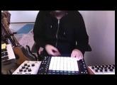 Push 2 Jam with Moog Minitaur and Moog 104M Delay using Ableton Live
