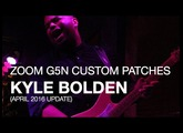 Kyle Bolden - Downloadable G5n Patches (April 2016)