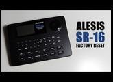 ALESIS SR16 factory reset : Tuto FR