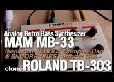 MAM MB-33 // ANALOG RETRO BASS SYNTH // ROLAND TB-303 STYLE