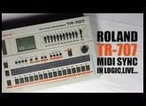 Roland TR-707 synchronisation midi : Tuto FR