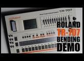 Roland TR-707 Bending DEMO
