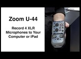 Zoom U-44 Record 4 XLR Mics to Your Computer or iPad NAB 2016