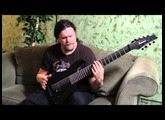 Marten Hagstrom on the Meshuggah M80M Ibanez 8-string signature model