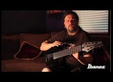 Mårten Hagström of Meshuggah discussing the Ibanez M8M signature 8-string guitar