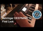 Behringer DeepMind 12 Poly  - first look at Studio Stekker