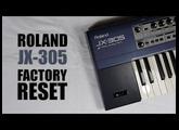 Roland JX-305 factory reset : Tuto FR