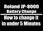 Roland JP 8000 memory damaged battery low How to change in under 5 Minutes