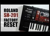 Roland SH-201 factory reset : Tuto FR